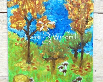 Autumn breeze; varnished oil painting