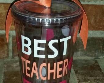Teacher Gift -  Best Teacher Ever -  Personalized Teacher Gift - Teacher Appreciation Gift - Best Teacher Gifts - Teacher Cups - Teachers