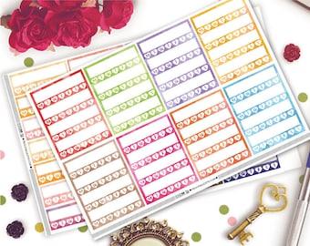 Watercolor Habit Tracker Planner Stickers | Erin Condren Life Planner Vertical | | Habit Tracker | Weekly Tracker | Sidebar Stickers