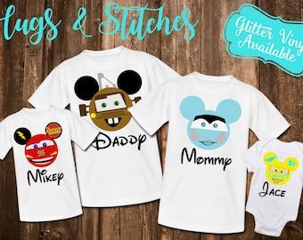 Disney Family Cars Shirt Set