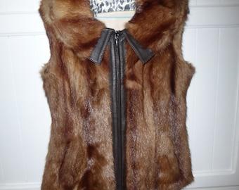 Marmot fur size 36-38 new - unique creation