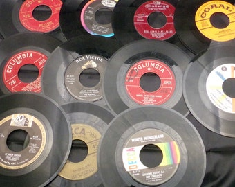 Christmas Music Collection Of 45 Records/Vintage Christmas Music/Collectible Records