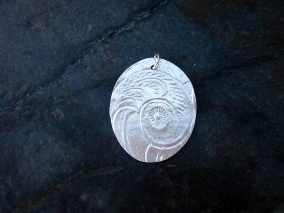 Fine Silver Seashell Pendant - #218