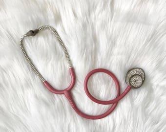 Bling stethoscope- bling littmann stethoscope- rhinestone stethoscope- crystal stethoscope- med student gift-sparkly stethoscope- bedazzled