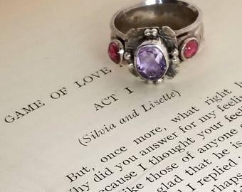 Elizabethan Style Amethyst Ring