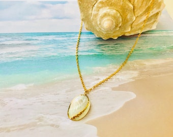Natural Shell Necklace-Beach Necklace -White Shell Necklace