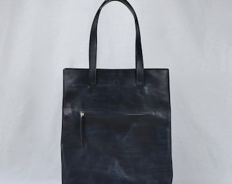 shopper BLACK | leather tote | leather tote bag | leather laptop bag | leather shopper bag | work bag | tote bag | minimal | messenger bag