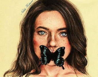 Butterly - ORIGINAL Drawing
