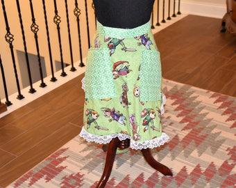 Legend of Zelda  Fabric Apron/ Kitchen/ Home Decor / Housewarming/ Wedding Gift/ Girlfriend Gift/ Hostess/ Cooking Gift