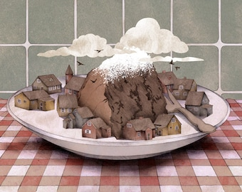 Chocolate Cake Mountain