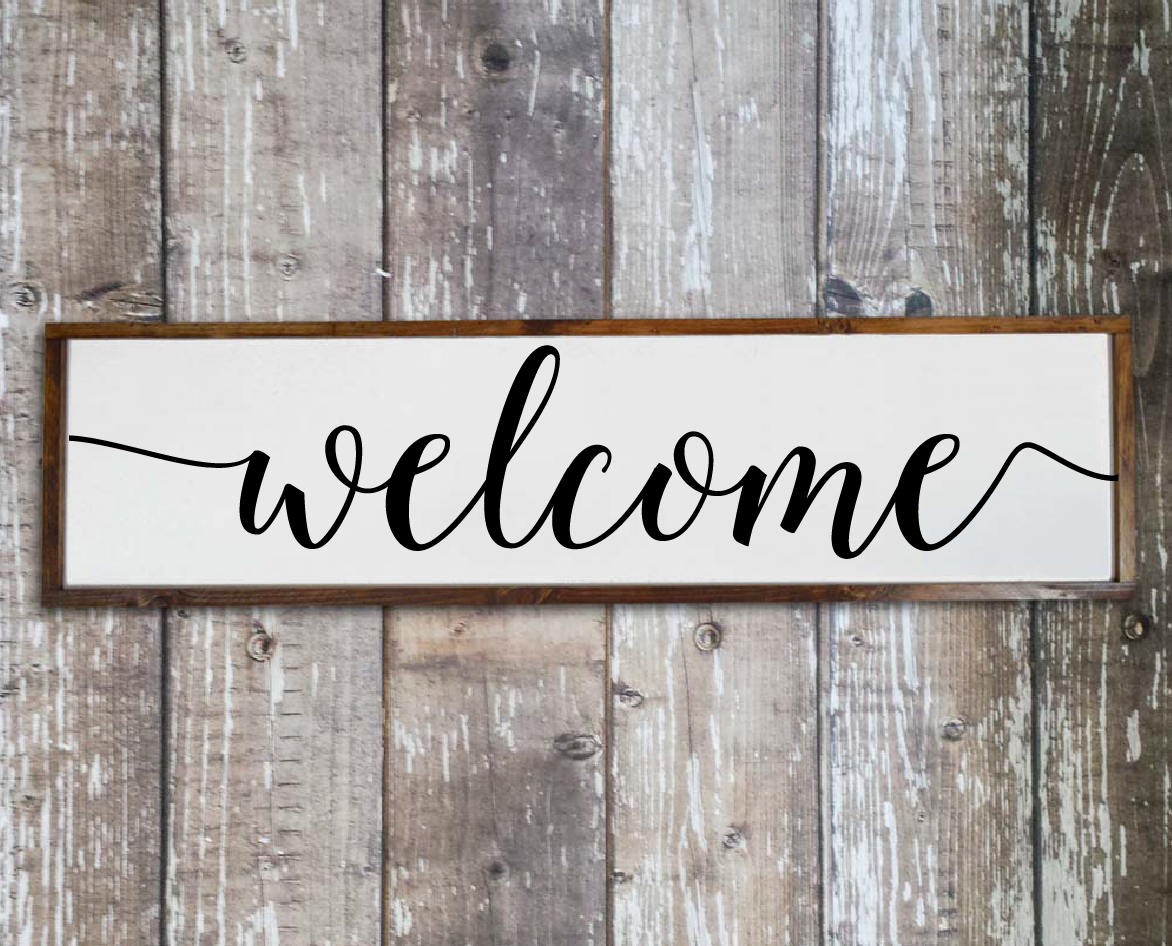 Welcome sign for front porch Home decor signs Living room