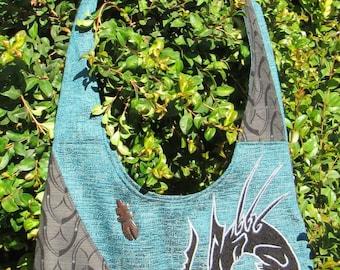 Predator and Prey across shoulder bag (teal)