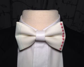 Faux Leather Chicago Flag Bow Tie