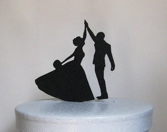 Custom Wedding Cake Topper - High Five with flat base and hole at the top reserved for Jamie
