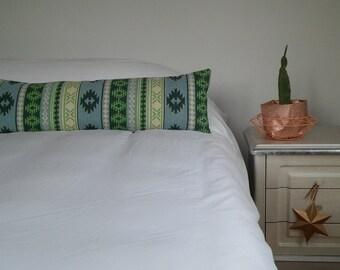 kilim body pillow, long kilim lumbar pillow