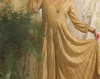 1970s Gold Palazzo Jumpsuit