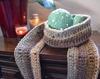 Crochet Long Scarf, Cozy Long Scarf, Scarf for Women, Bulky Crochet Scarf