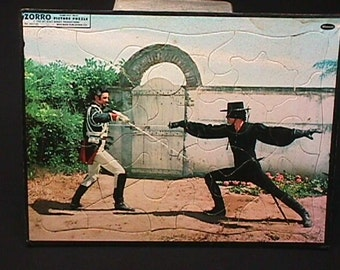 Vintage 1957 by Whitman A Vintage Zorro Picture Puzzle in Real Nice Condition, and Complete.