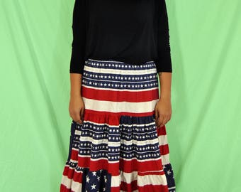 70s Americana Skirt L-XL
