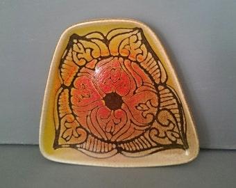 Poole Pottery Aegean 81 Trapezoid Dish Signed