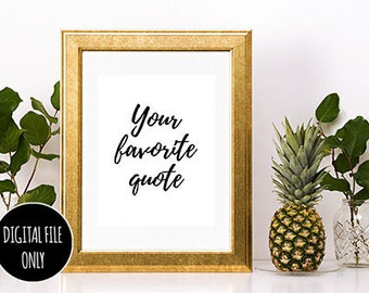 Custom Poster Print Instant Download Printable Art Personalized Wall Art Custom Typography Print Calligraphy Print Personalized Print Design