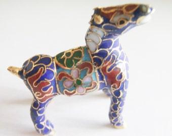 Vintage Cloisonne Horse / Rare Cloisonne  Items / Animal Statues / Miniature Statues / Horse Statues / Equestrian Statues / Horse Deco