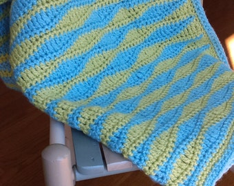 Sea Waves Baby Blanket, Crochet Pattern Pdf, Available for Etsy Instant Download