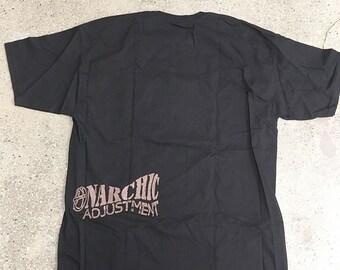 90s Vintage ANARCHIC ADJUSTMENT Heroin shirt : subliminal massage