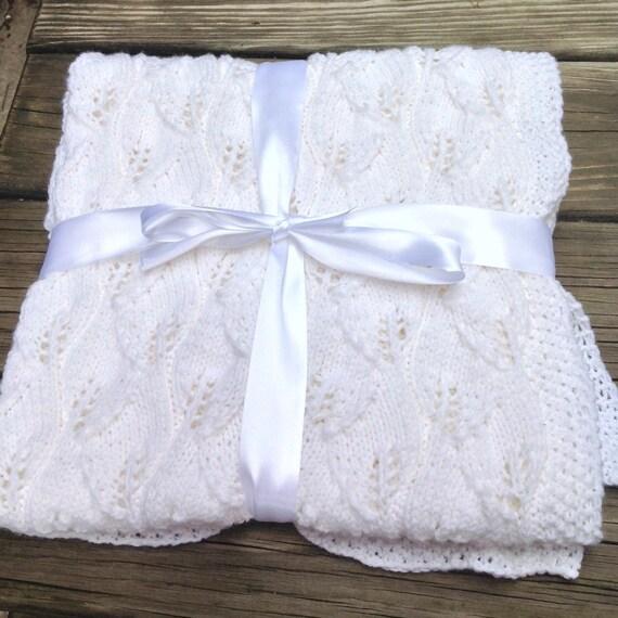 tricoter une echarpe de bapteme