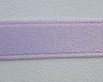 Lavender Silk Satin Ribbon, Double-Faced - 1/4 Inch - 6mm - Sold by the Yard