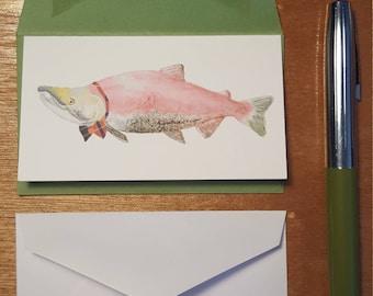 Dapper Salmon Enclosure Card
