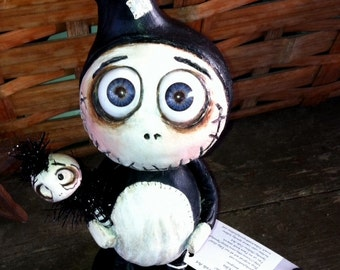 Big head Grimmy doll one of a kind MADE TO ORDER