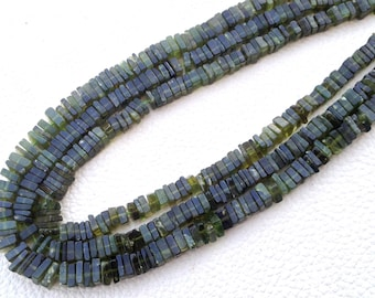 New Arrival,Full 15 Inch Strand, Superb-Quality, Natural VESSONITE Square HEISHI Cut Beads,Brand New Stock,4.5mm size.