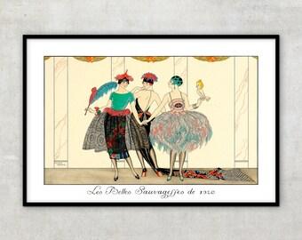 Art Deco fashion illustration, Art Deco print by Georges Barbier. IL084.