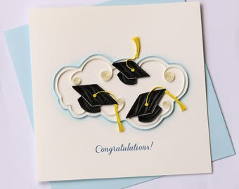 Graduation Quilling Greeting Card, Quilling Cards, Birthday Cards, Greeting Cards, Handmade Greeting Card, Handmade Card