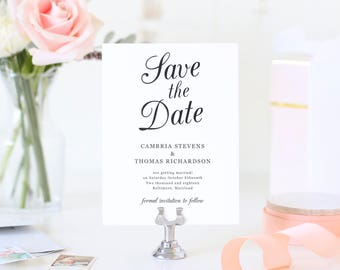 Save The Dates Template, Printable Save the Date, Save Our Date, Southern Moonlight | SUITE029