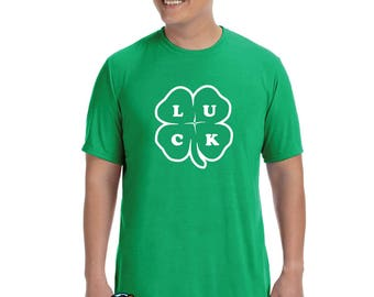 St. Patricks day 4 leaf clover lucky shirt
