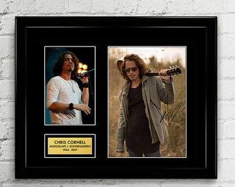 Chris Cornell Autograph - Poster Signed Art Print Artwork - Grammy Billboard - Lead Vocalist Soundgarden Audioslave - Black Hole Sun