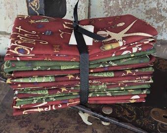 Fabric: Bundle Half Yard 6pc - Christmas Reds & Greens
