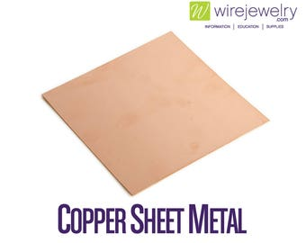 Copper Sheet Metal, Dead Soft, 6 Inch Width, Various Gauges and Lengths