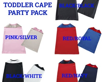 Toddler Superhero Cape, Superhero Capes Bulk, Superhero Capes For Toddlers, Capes Bundles, Superhero Capes Party Pack, Reversible Kids Capes