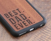 Best Dad Ever Phone Case, Fathers Day Gift iPhone X Case, iPhone 7 / 8 Plus Wood Case - SHK-R-I6P-BESTDAD