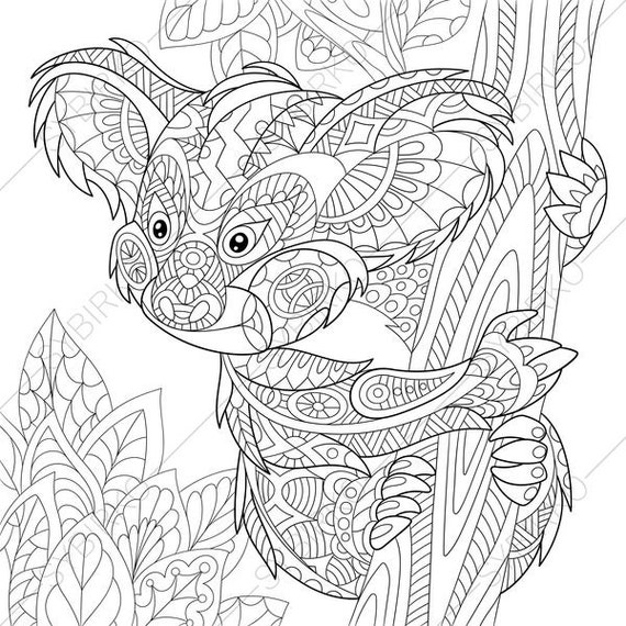 Koala Bear 2 Coloring Pages Animal Coloring Book Pages For