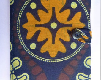 African Print Fabric Kindle Case