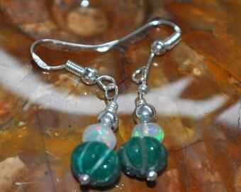 Opal Pumpkin Earrings