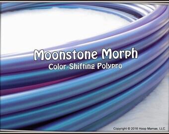 "NeW! 'MOONSTONE MORPH' Color-Shifting Polypro!  3/4"" & 5/8"" OD Hoop Or Minis Set! Free Sanding Option."