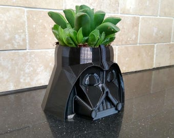 Darth Vader Plant Pot | Succulent Planter, Air Plants, Star Wars Gift, Succulent Pots, Gift For Him, Cactus Decor, Air Plant Holder