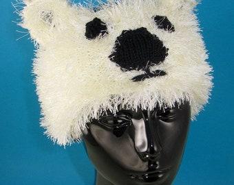 HALF PRICE SALE Instant Digital File pdf download knitting pattern - Polar Bear Headband pdf knitting pattern
