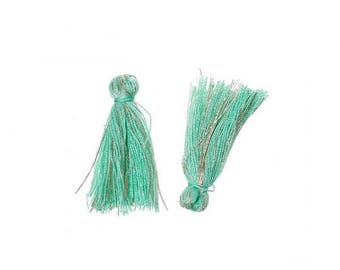 20 mini tassels green Taupe 25mm