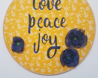 Love peace joy 14""